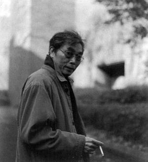 竹内次男先生(京都工芸繊維大学構内)